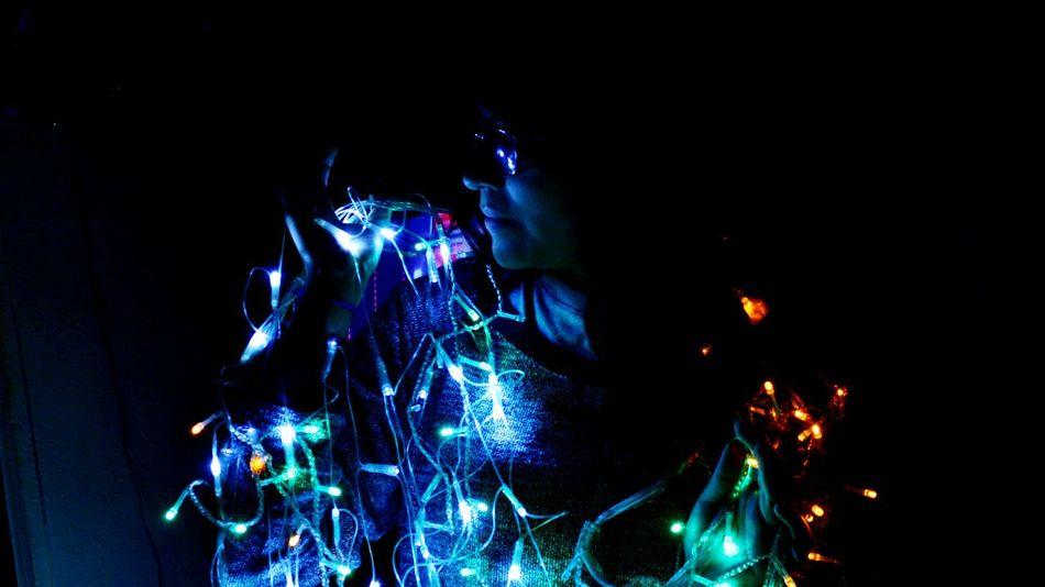 christmas is coming 🌌🎊💙 Navidad Luces Love Fotoderetrato