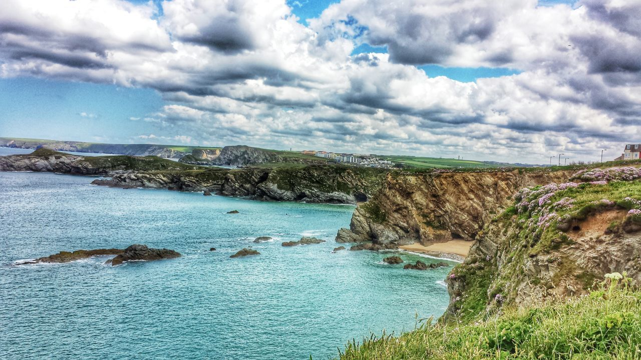 """Landscape photography is the supreme test of the photographer-and often the supreme disappointment"" Ansel Adams Landscape_Collection Water_collection Sky_collection Streamzoofamily Tolcarne Beach Newquay"