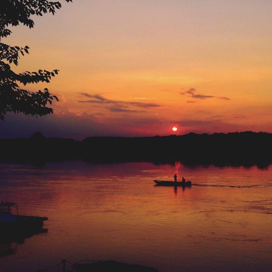 Sunset Sunset Fiume Po Fishing Iphone 5