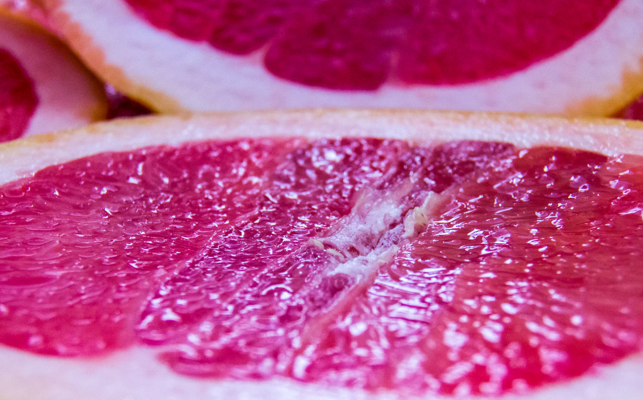 Grapefruit close-up texture. Backgrounds Citrus  Close-up Food And Drink Freshness Fruit Grapefruit Healthy Eating Healthy Lifestyle Juicy Macro Macro Photography Orange Pattern Raw Red Ripe SLICE Sliced Sweet Texture Vegetarian Food