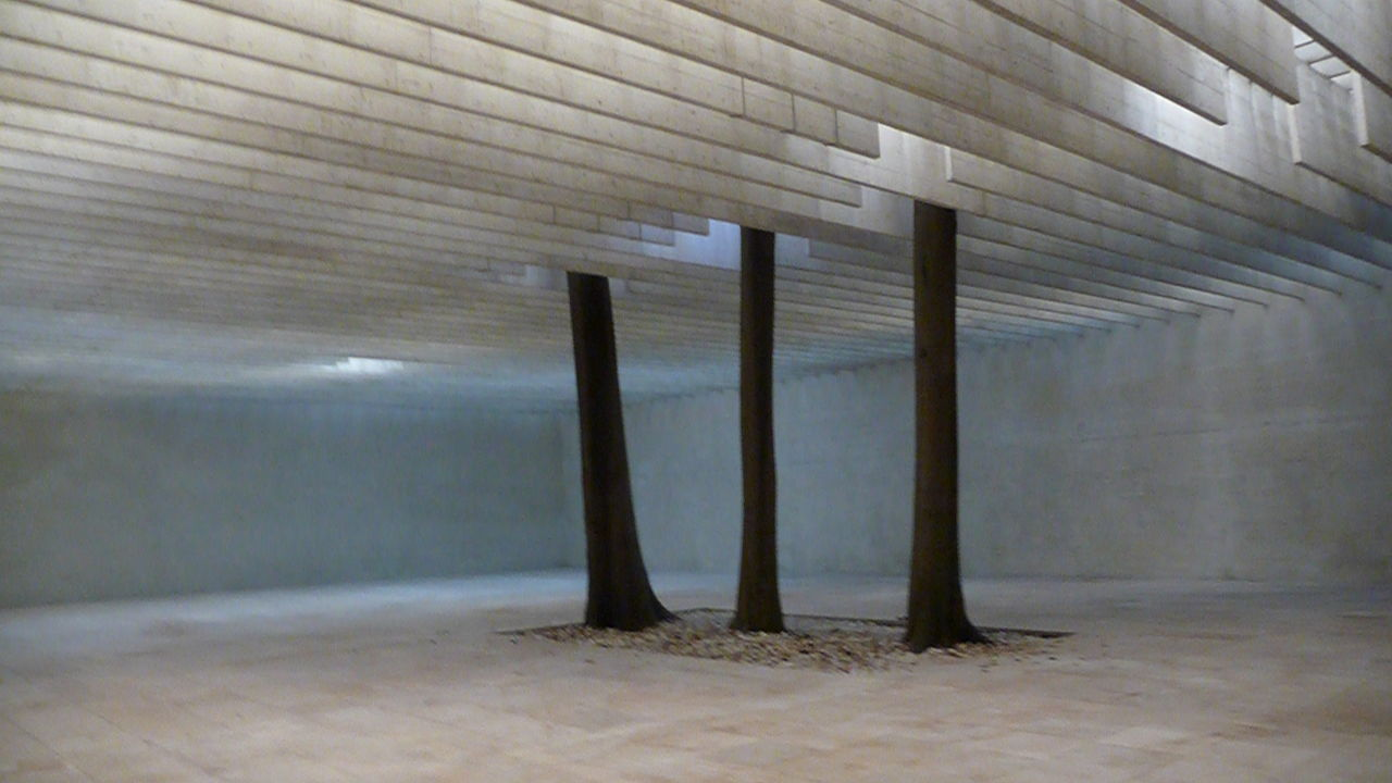 architecture, built structure, indoors, day, no people, architectural column, underneath