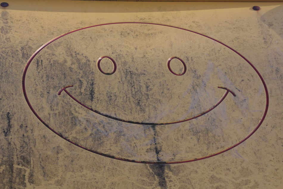 SMILE! Circle Day Face High Angle View No People Outdoors Smile Text