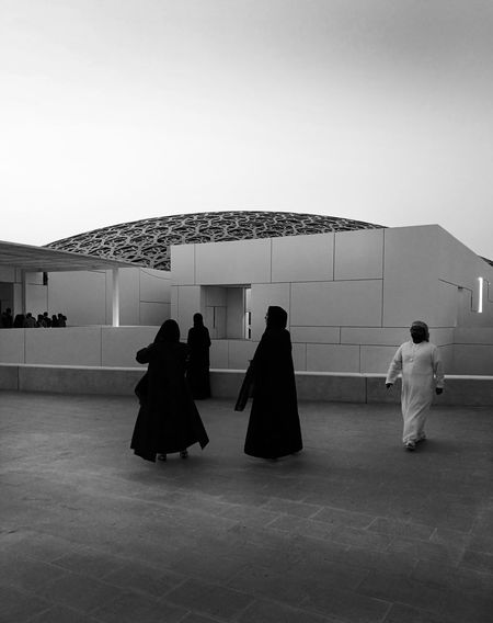 Louvre Abu Dhabi Travel Covering Architecture Friend Arabs Jeannouvel Blackandwhite People Adult Full Length Day Outdoors Adults Only