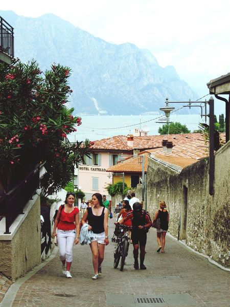 People Mountain Day Malcesine Italy Village Travel Destinations Lake View Lake Garda