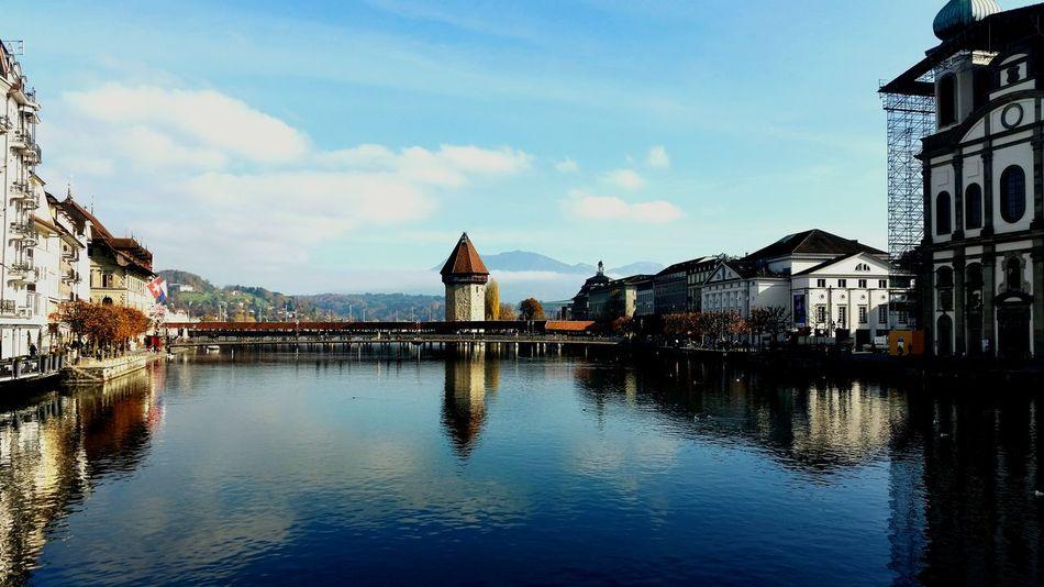 Luzern last weekend ;) Luzern Swiss Luzern Bridge Water Reflections Day