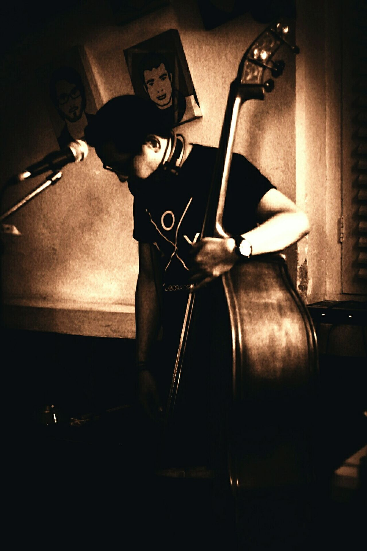 Taking Photos LiveMusic Musicphotography That's Me Endorsement Joylabsclothing Blackstockingmusic Peoplephotography Bass Player Doublebass