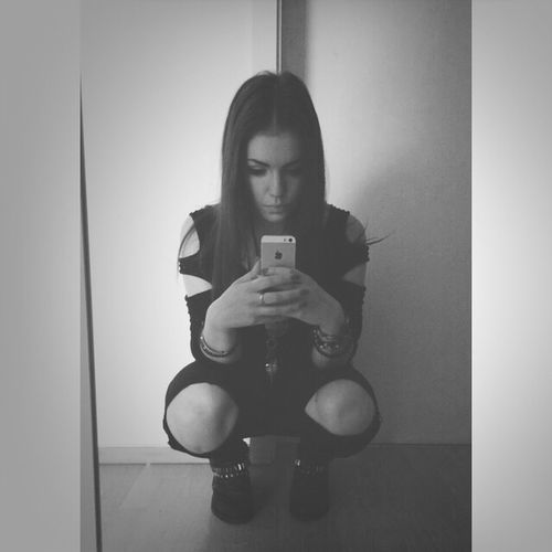 Selfie Rippedjeans  Black White