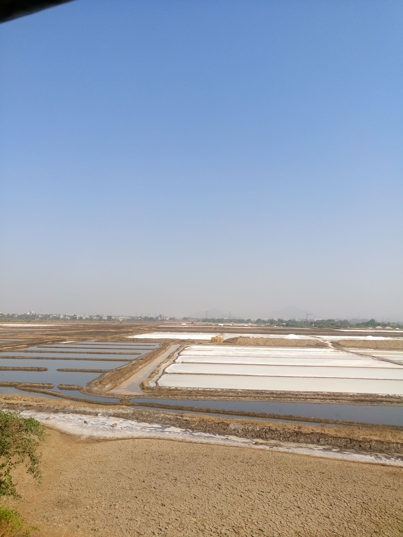 Agriculture Beauty In Nature Clear Sky Day Landscape Nature No People Outdoors Salt - Mineral Salt Basin Salt Flat Sky Tranquility