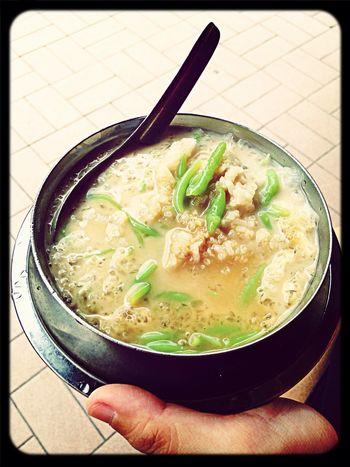Cendol with pulut