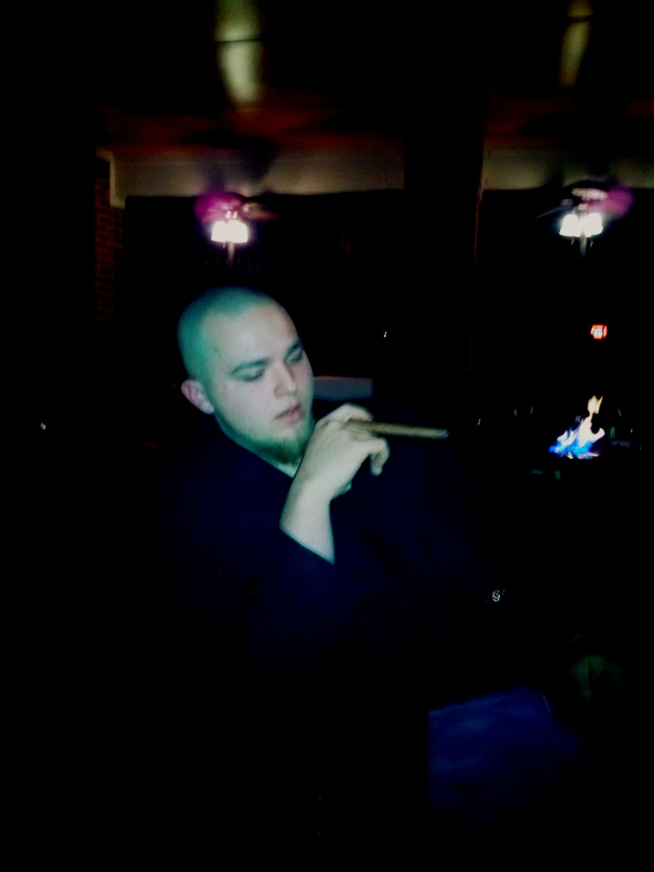 Boss ass brother smokein a cigar