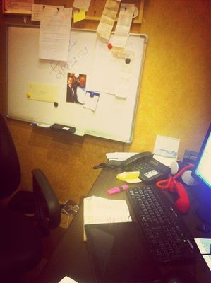 My desk in Dbayeh by Tarek Chalhoub