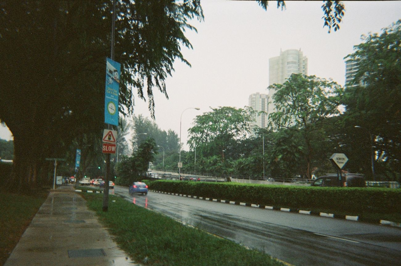 rainy. Photography Travel Singapore Film Kodakfunsaver Cityscapes