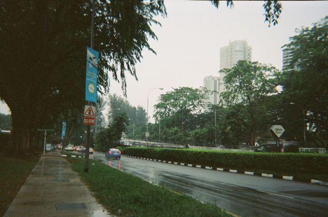 rainy. Photography Travel Singapore Film Kodakfunsaver Cityscapes