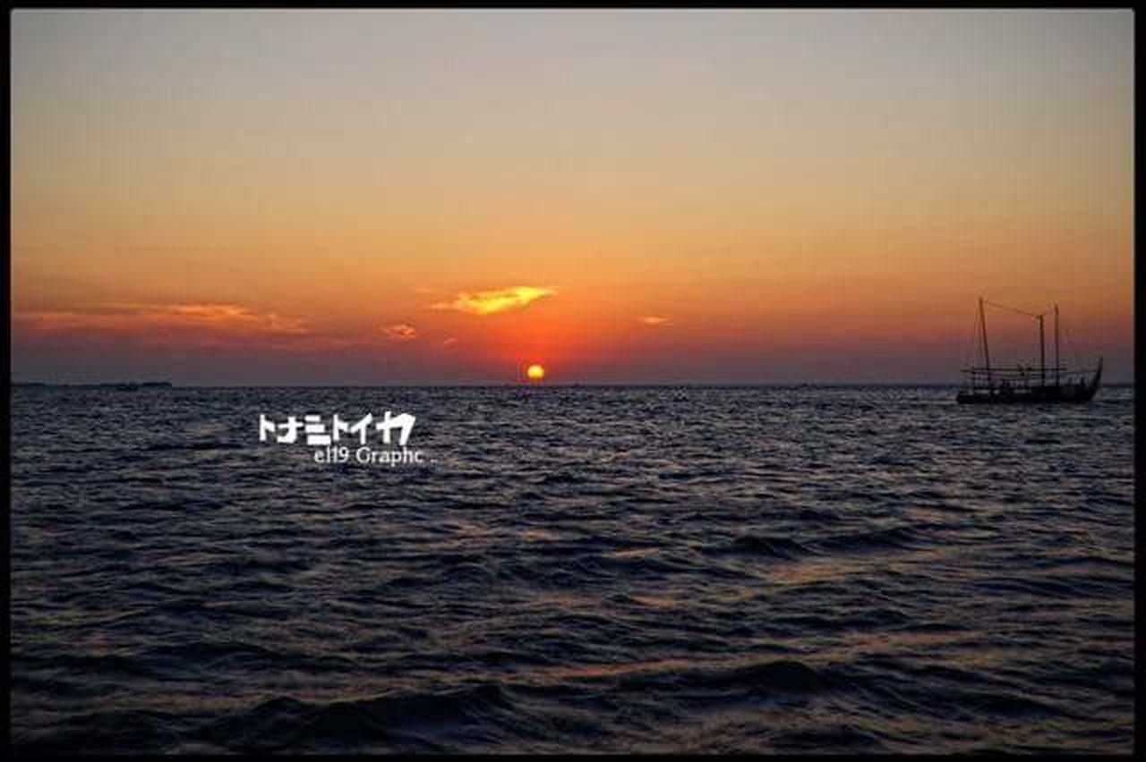 Sunset Tranquility Sea Sky Tranquil Scene Water Outdoors Nautical Vessel Sun Beauty In Nature No People Nature Scenics Horizon Over Water Horizontal Day INDONESIA Nusantara Karimunjawa Beauty In Nature Jawatengah