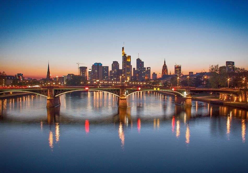 FFM - No. 2 Frankfurt Frankfurt Am Main Frankfurtmylove Frankfurtlovers Frankfurt's Life Architecture City Lights City Landscape Blue Hour HDR EyeEm Gallery Eye4photography  Reflections Reflections In The Water Lights River Main Hometown Wide Angle Skyline Landscape Cityscape Photography City Cityscape