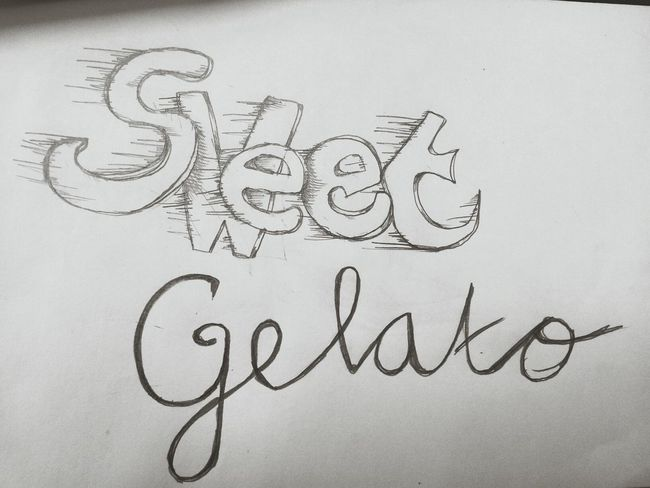 sweet gelato hand drawing type Myartwork Handdrawntype Type Art