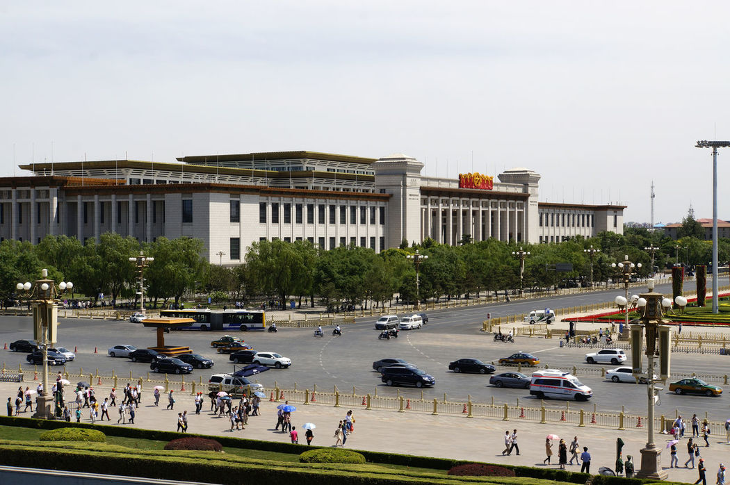 Tian'anmen Square Adult Adults Only Architecture Beijing, China Building Exterior Built Structure Day Government Historical Museum Large Group Of People Outdoors People Sky Tiananmen Square Tourism Travel Travel Destinations Tree Vacations