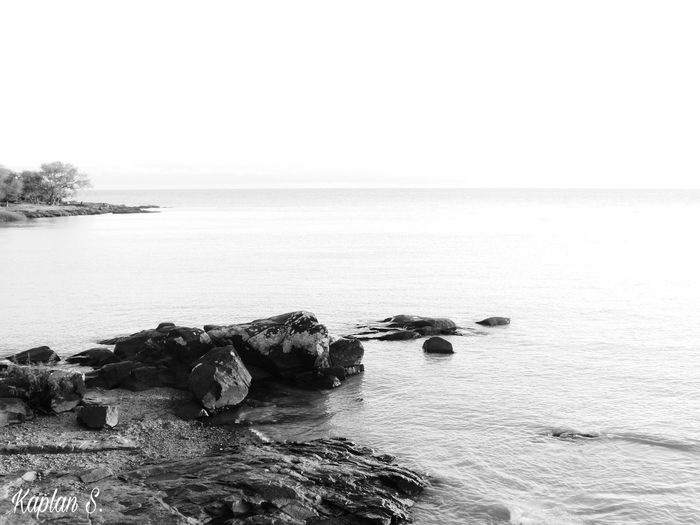 BW1 #B&W Beauty In Nature Beauty In Nature Black And White Photography Blackandwhite Horizon Over Water Idyllic Nature Nature_collection Nature_perfection No People Outdoors Relaxing Rock - Object Rocks And Minerals Sea Seascape Tranquil Scene Tranquility Water First Eyeem Photo