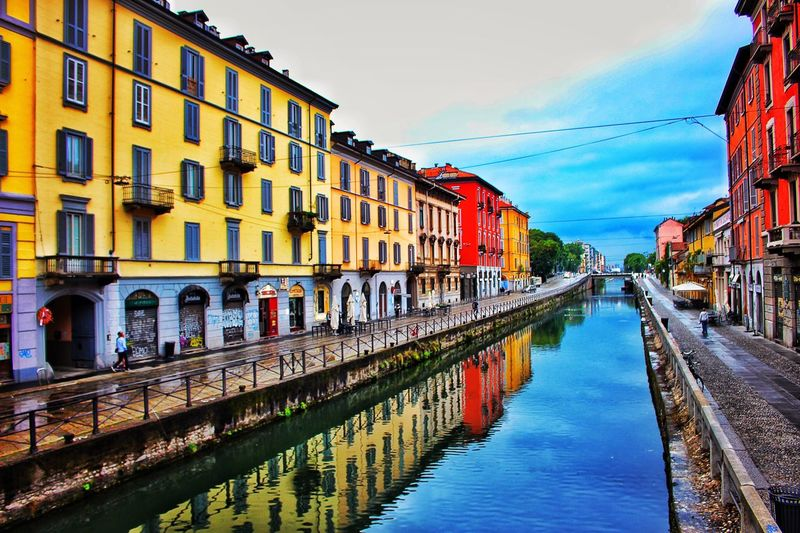 Canal Water Reflection Waterfront Sky City Bright Milano Milan Street Colorful First Eyeem Photo