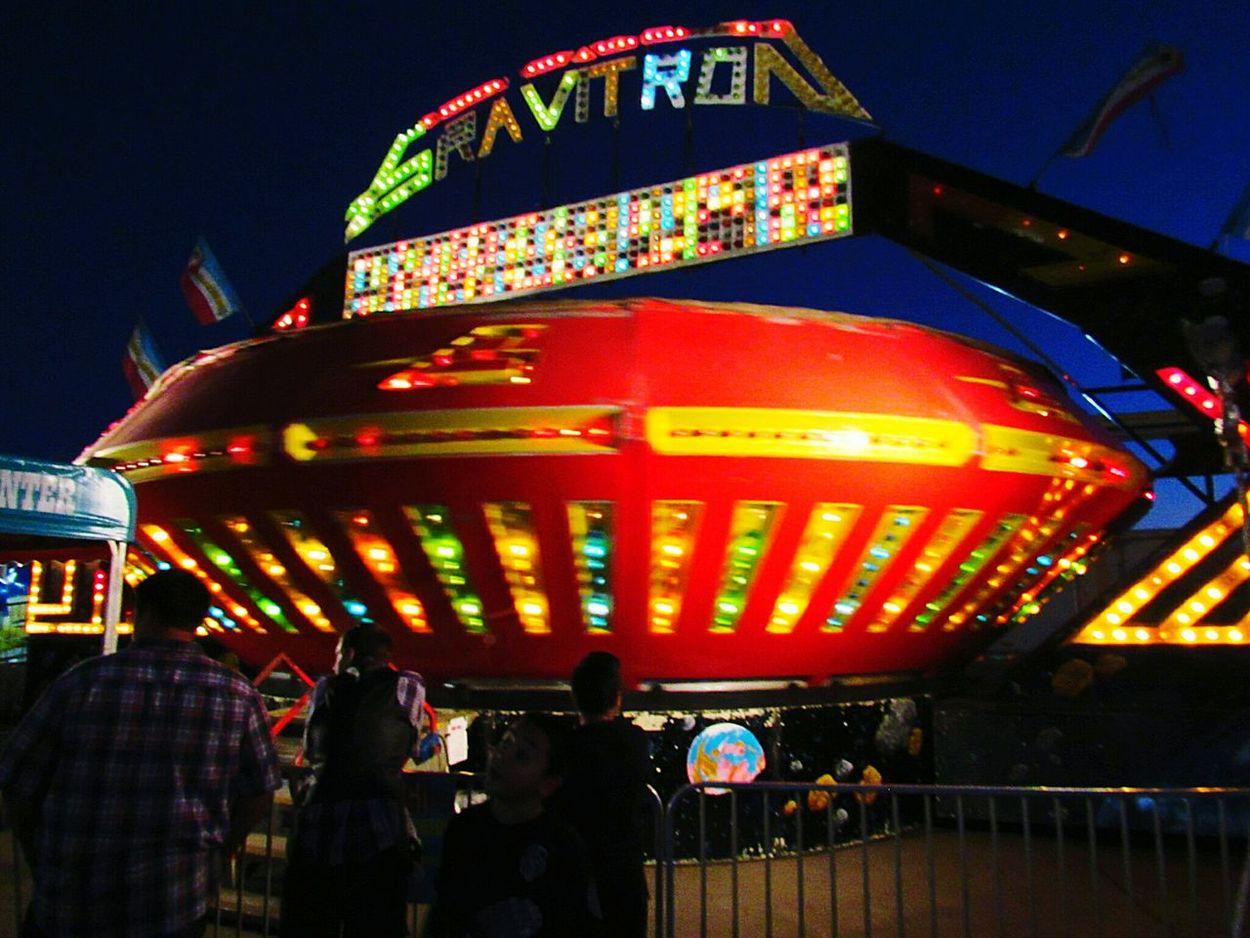 Night Photography Ca State Fair Fun Fair Gravitron Carnival Fun Carnival Rides Fair Ride In Motion