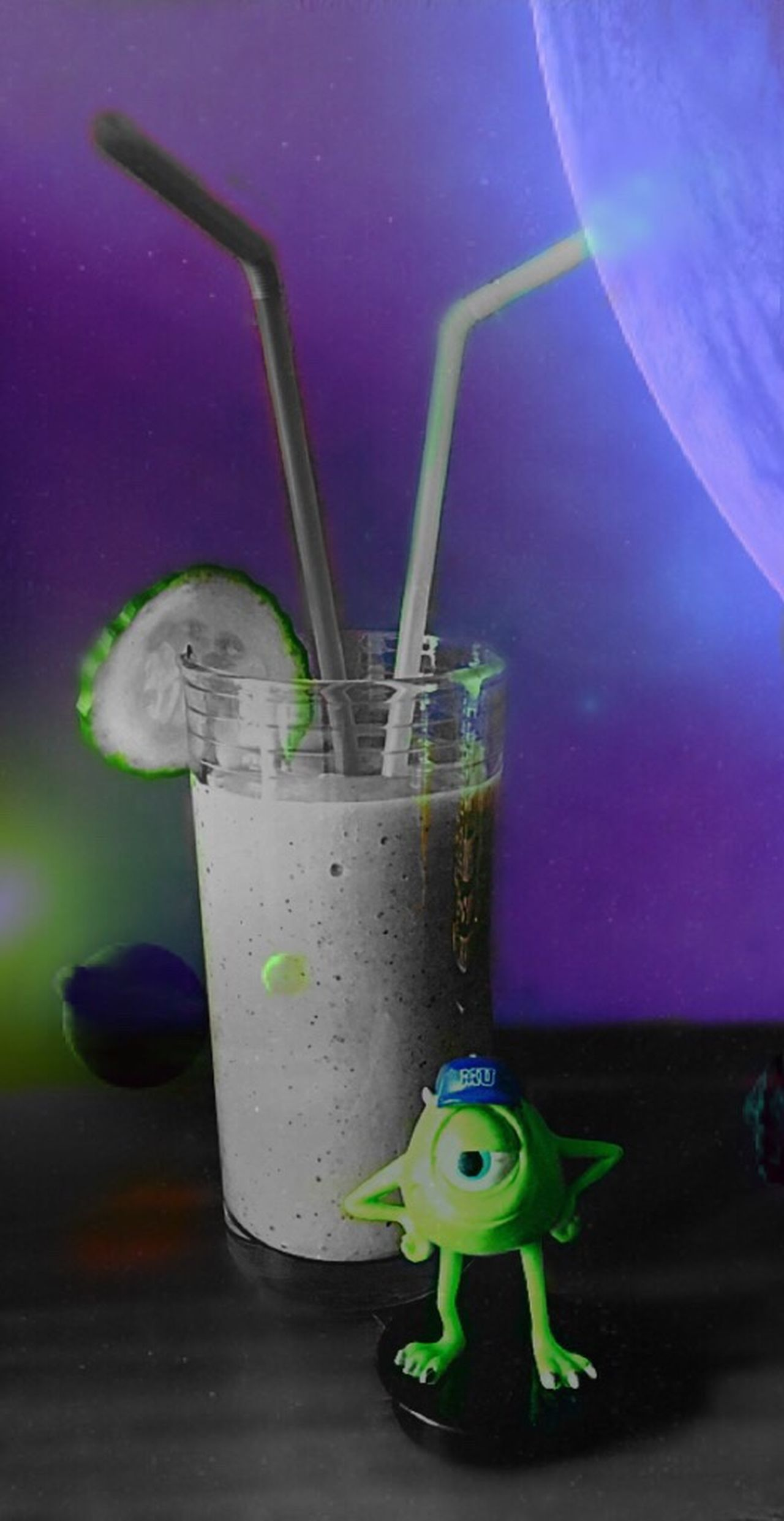 Visual Feast Drinking Straw Close-up Drink Freshness Drinking Glass Photoshop Splash Monster Smoothie Vitamin Fresh Space Planet Planet - Space