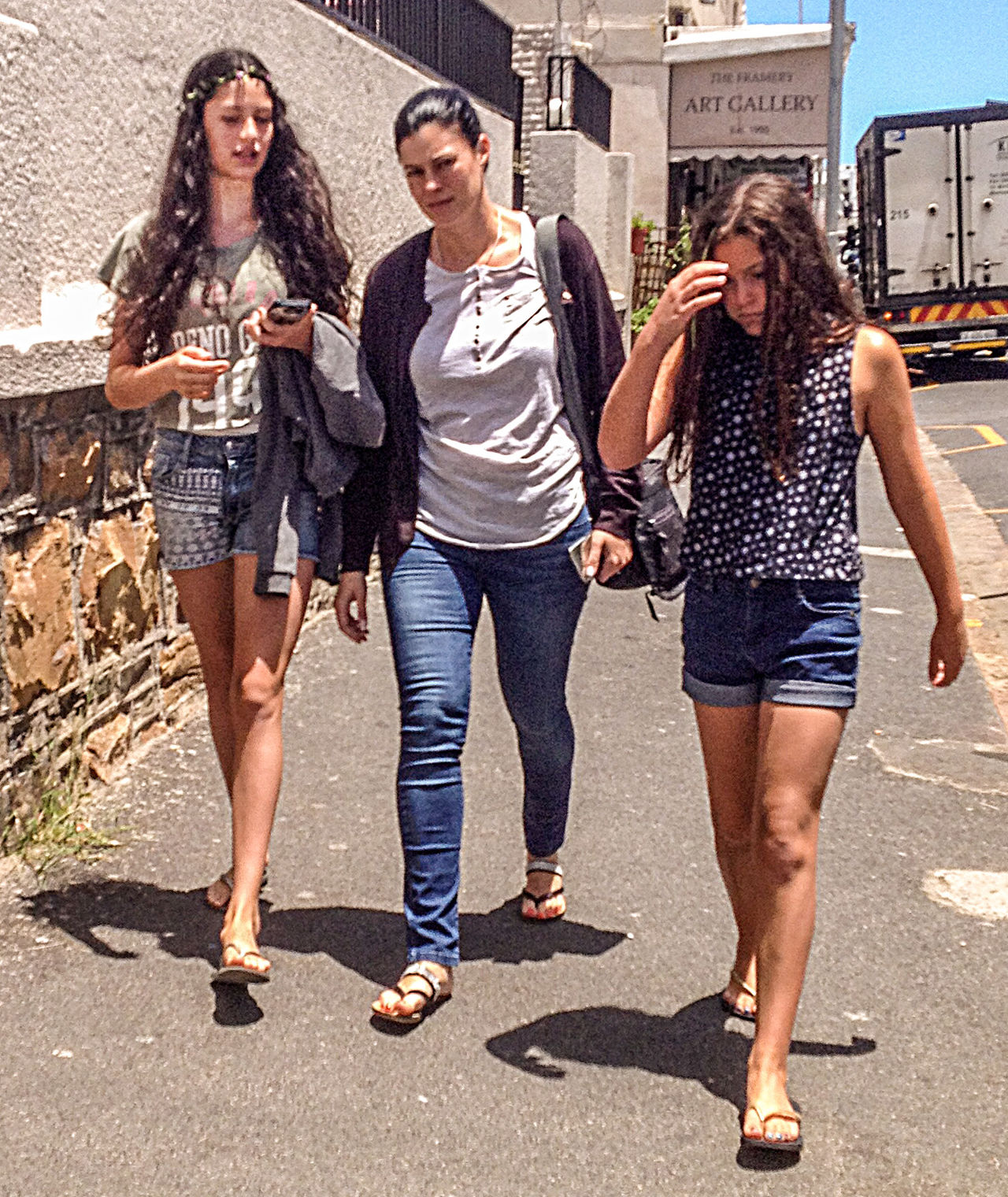 Candid Casual Clothing City Life Full Length Lifestyles Outdoors Streetphotography Three Girls Young Adult