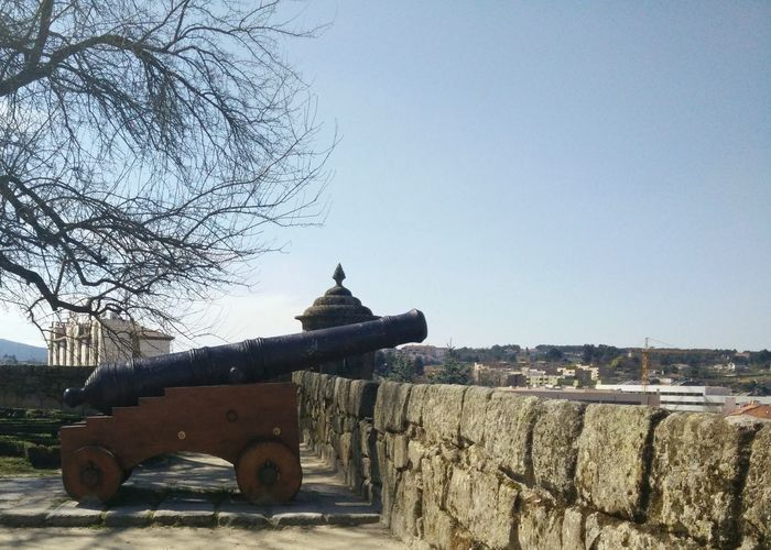 Built Structure Building Exterior History Bare Tree Sky No People Cannons Old Cannon Old Cannons DefenselineArchitecture Outdoors Day OnePlusOne📱 Oneplusonephotography Portugal Defense Architecture