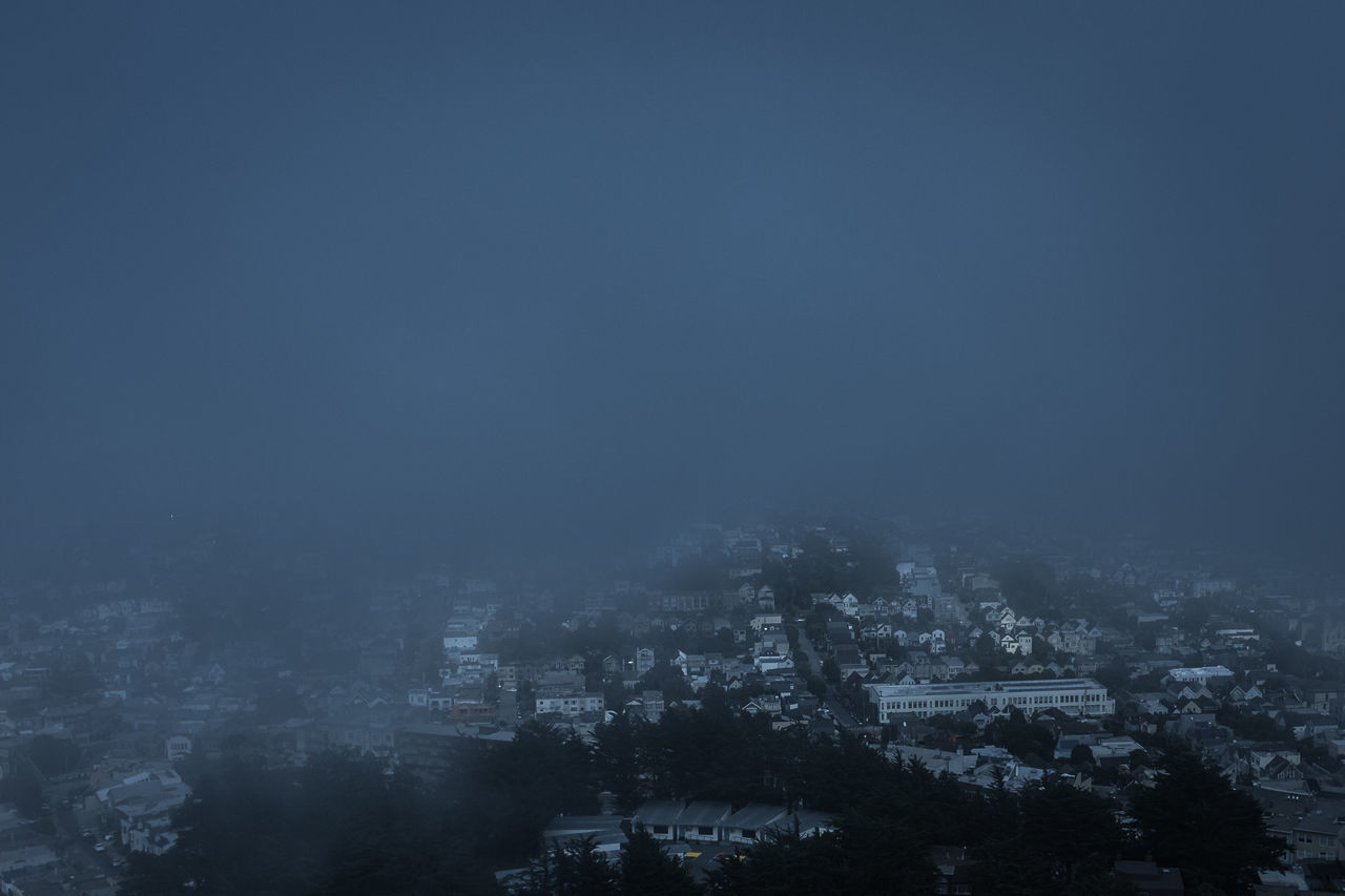 Blue Blue Sky California City Colors Disappearing Into Nothing Faded Fading Fog Fog Wave Foggy Hazy  Hidden Hiding Hill Hilltop Hilltop View HillTopView Houses Mist Street Streets Veiled Wave EyeEmNewHere
