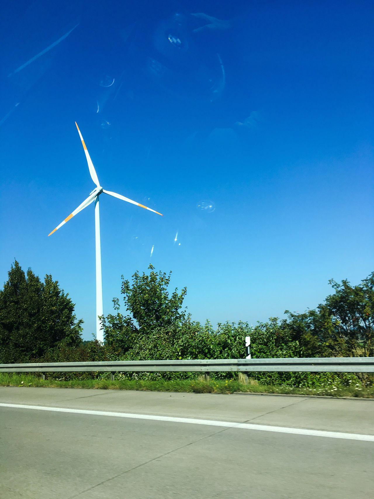 Motorway German Motorway Wind Turbine Wind Power