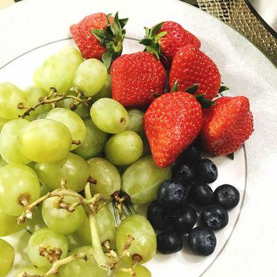 Fruit Strawberry Blueberry Muscat Happychristmas