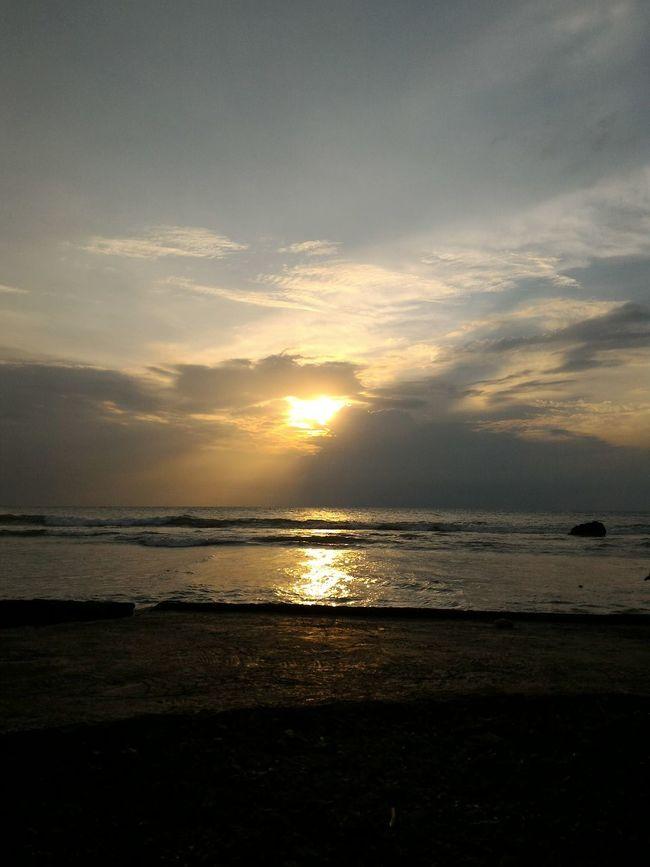 Sunset Beach Anyer  Nature Scene
