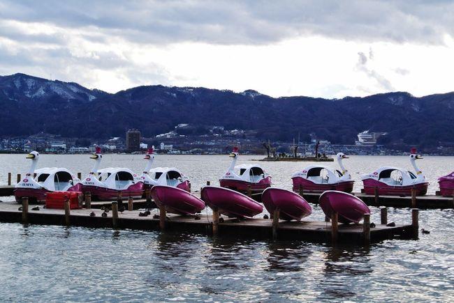 長野県 諏訪市 諏訪湖 Japan Nagano Suwa Lake Suwa Lake Boat