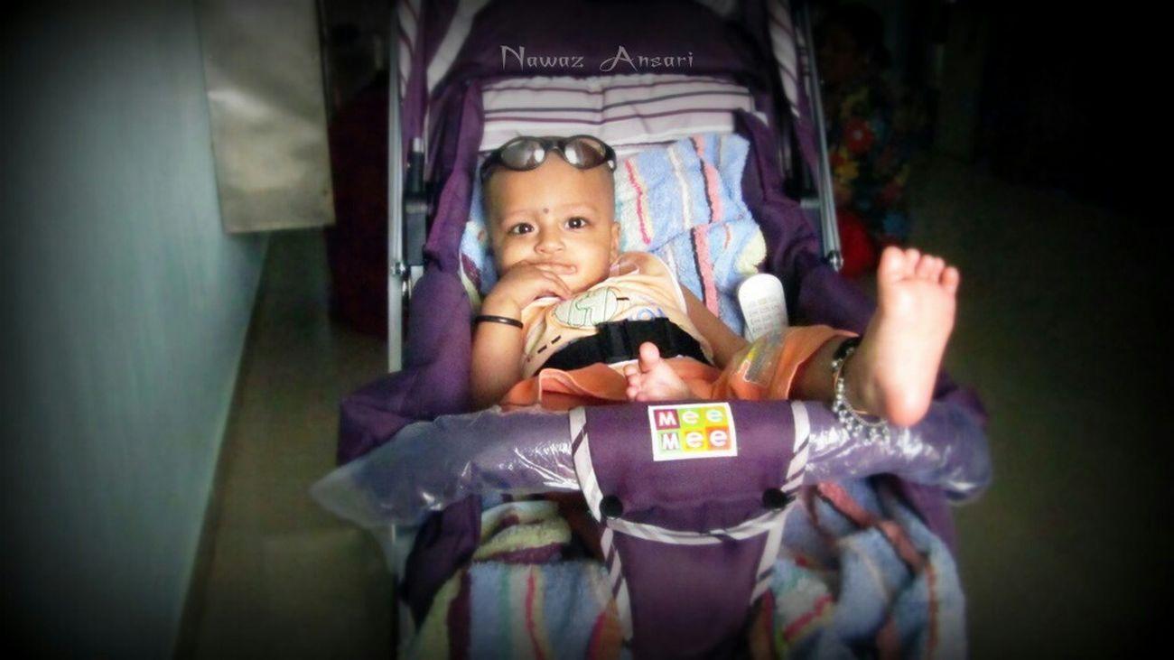 Enjoying Life Cute Baby Relaxing Nawaz Glasses