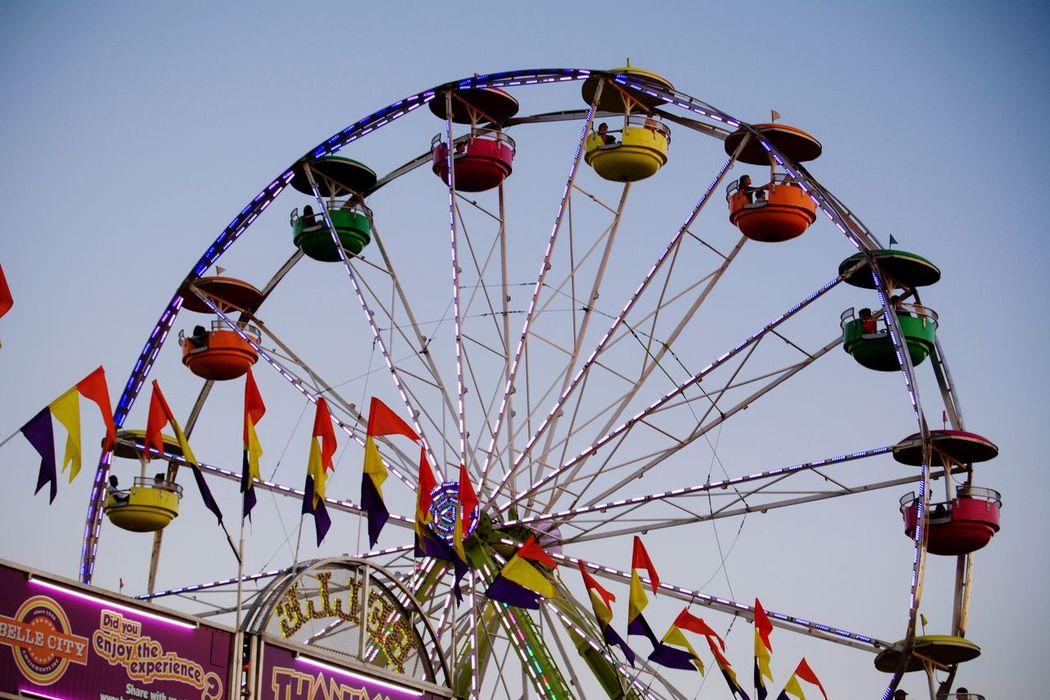 Ferrys Wheel Festival Lights Colors