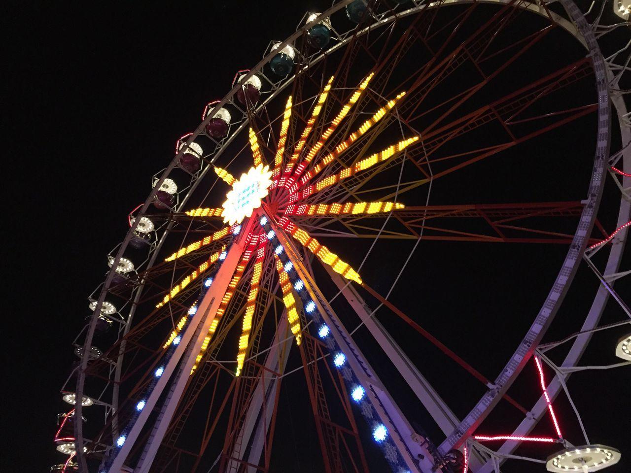 Big wheel Mainfest Germany Frankfurt Ferry Wheel Fun Night
