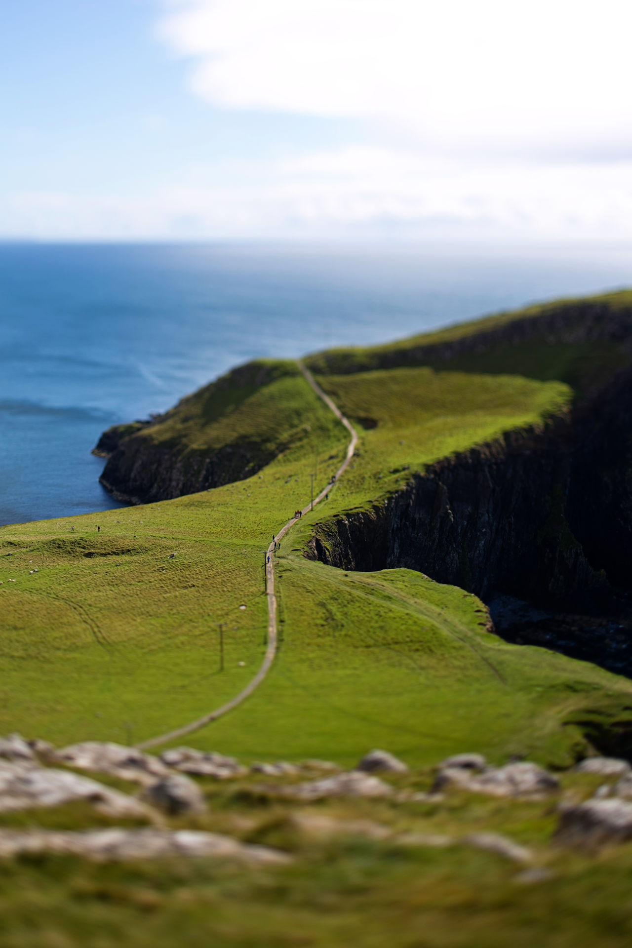 End of the world Beauty In Nature Cliff Day End Of The World Famous Landmarks Grass Holiday Landscape Miniature Nature Outdoors Scenics Sea Tiltshift Travel Travel Destinations Vacations Winding Road