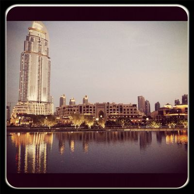 lake at Burj Khalifa برج خليفة by Elie Akl