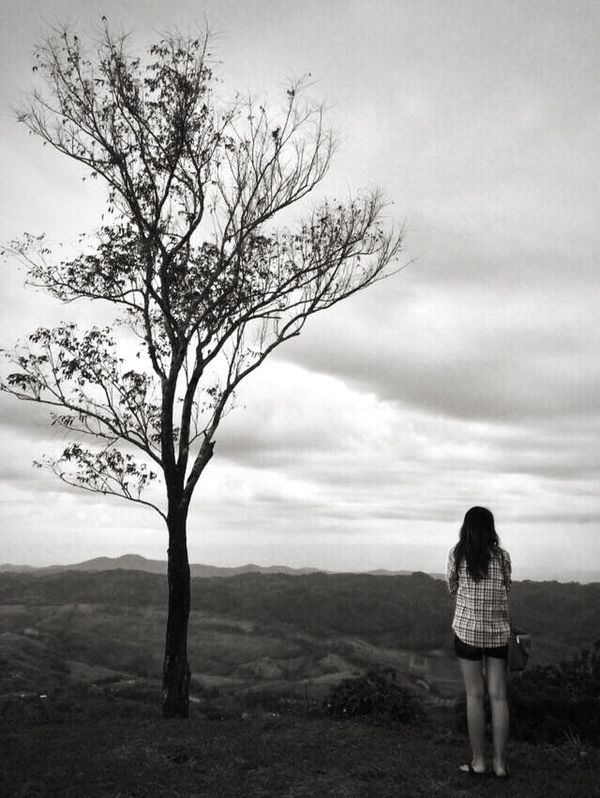 It's so lonely to live alone. Black & White Thailand Nature Thailand