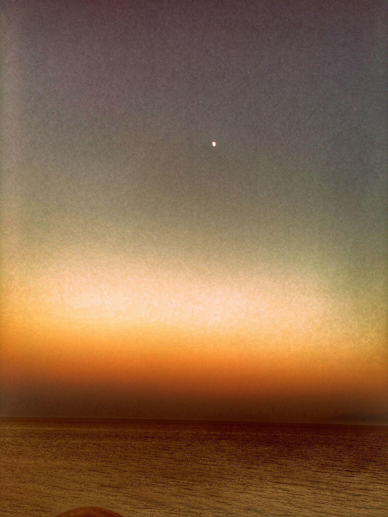 Sunset View Moon🌚Hello World