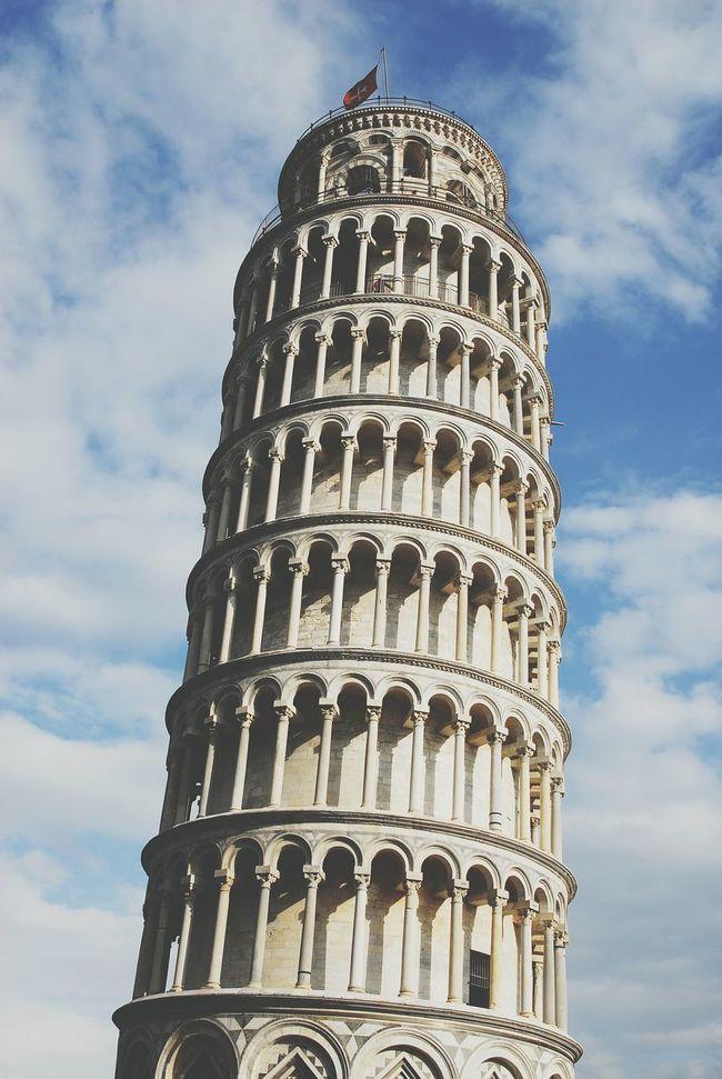 Pisa Tower Blue Sky Italy Pisa