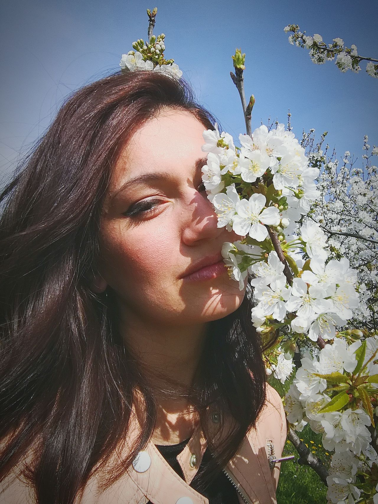 Flower Beauty Portrait Beautiful Woman Sunlight Adult Adults Only Young Women Wreath Young Adult Sky Nature Pretty Primavera Italy Lifestyles One Woman Only One Young Woman Only People One Person Day Dreaming Close-up Human Body Part Italiangirl Bulgaria First Eyeem Photo