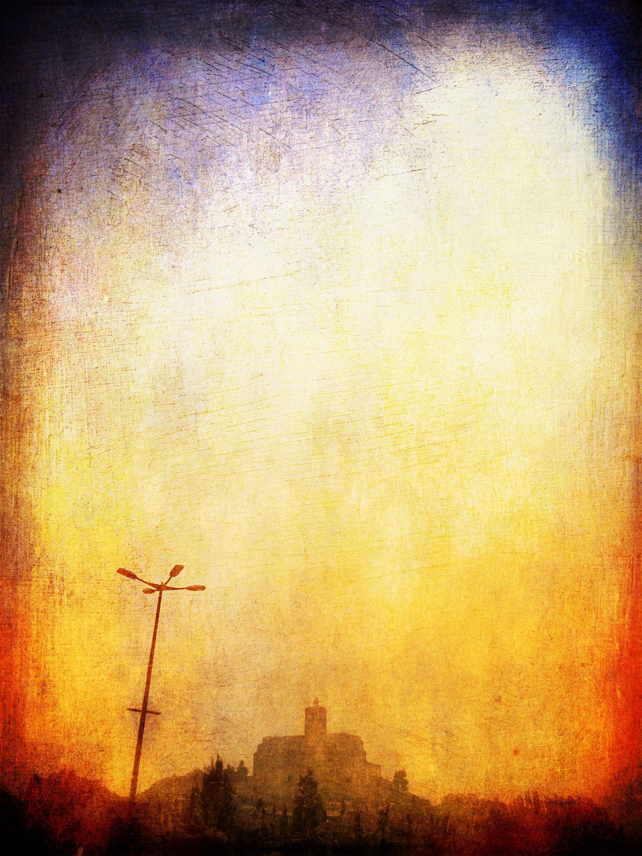 Fog Foggy Weather Yellow Built Structure Silhouette Sky Outdoors Day Sunset Architecture No People Cityscape Balaguer Lleida Boira Illuminated Light Low Angle View