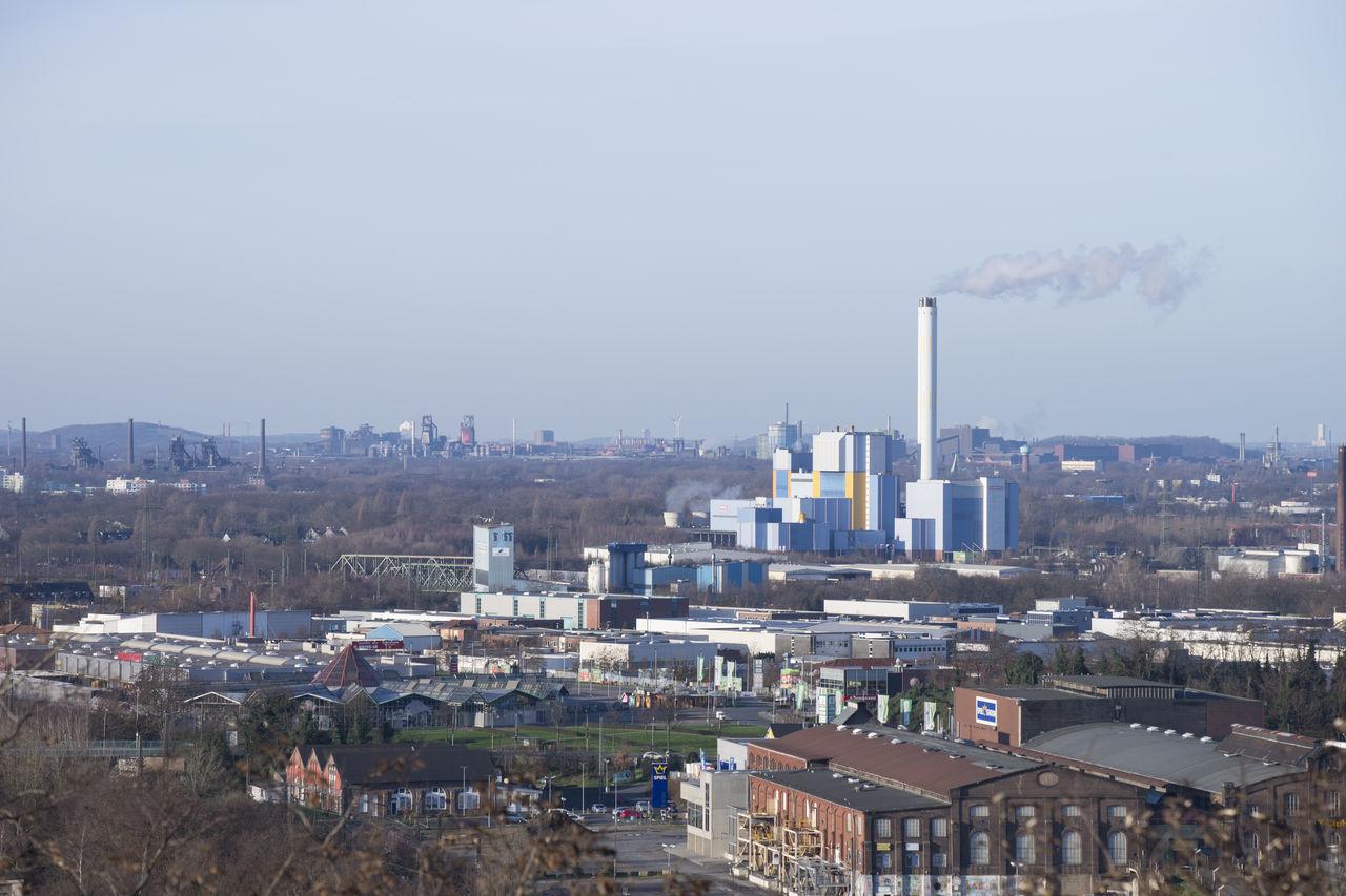 Von Oberhausen nach Duisburg Architecture City Cityscape Clear Sky Hochofen Industrie Müllverbrennung Oberhausen Panorama Sky Turbinenhalle