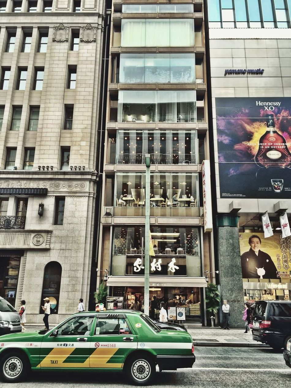 Tokyo Tokyo,Japan Ginza Taxi IPhoneography Minimalism Urbanphotography Streetphotography Frontal Shot Ultimate Japan Battle Of The Cities