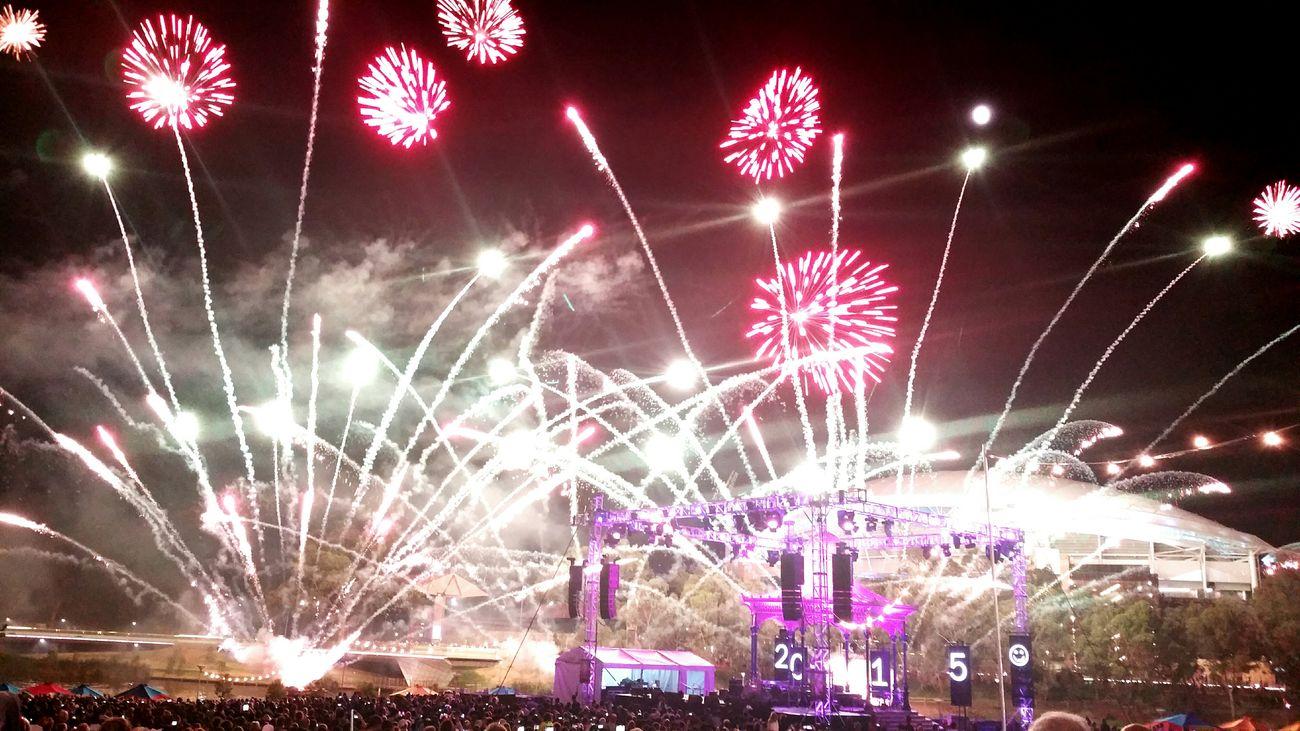 New Year's Eve Fireworks Adelaide NYE2015