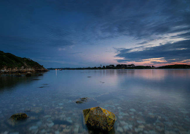 Sunset over Bréhat Island Blue Bretagne Bretagnetourisme Bréhat Cloud Island Landscape Long Exposure Nature Night No People Outdoors Reflection Rocks Rocks And Water Sky Sunset Water First Eyeem Photo