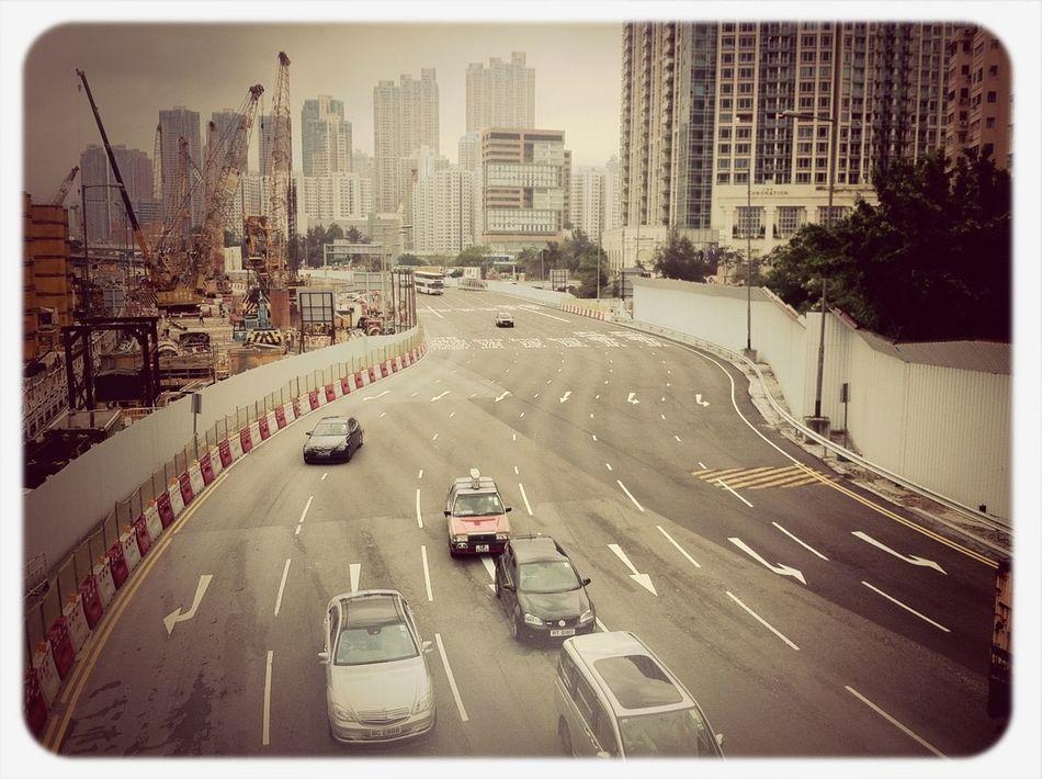 Highway Buildings Skycraper Costruction