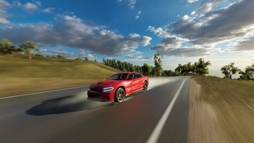 Blurred Motion Cloud - Sky Day Forza  Horizon Horizon 3 Land Vehicle Mode Of Transport Motion Nature No People Outdoors Red Road Sky Speed Transportation Travel Tree