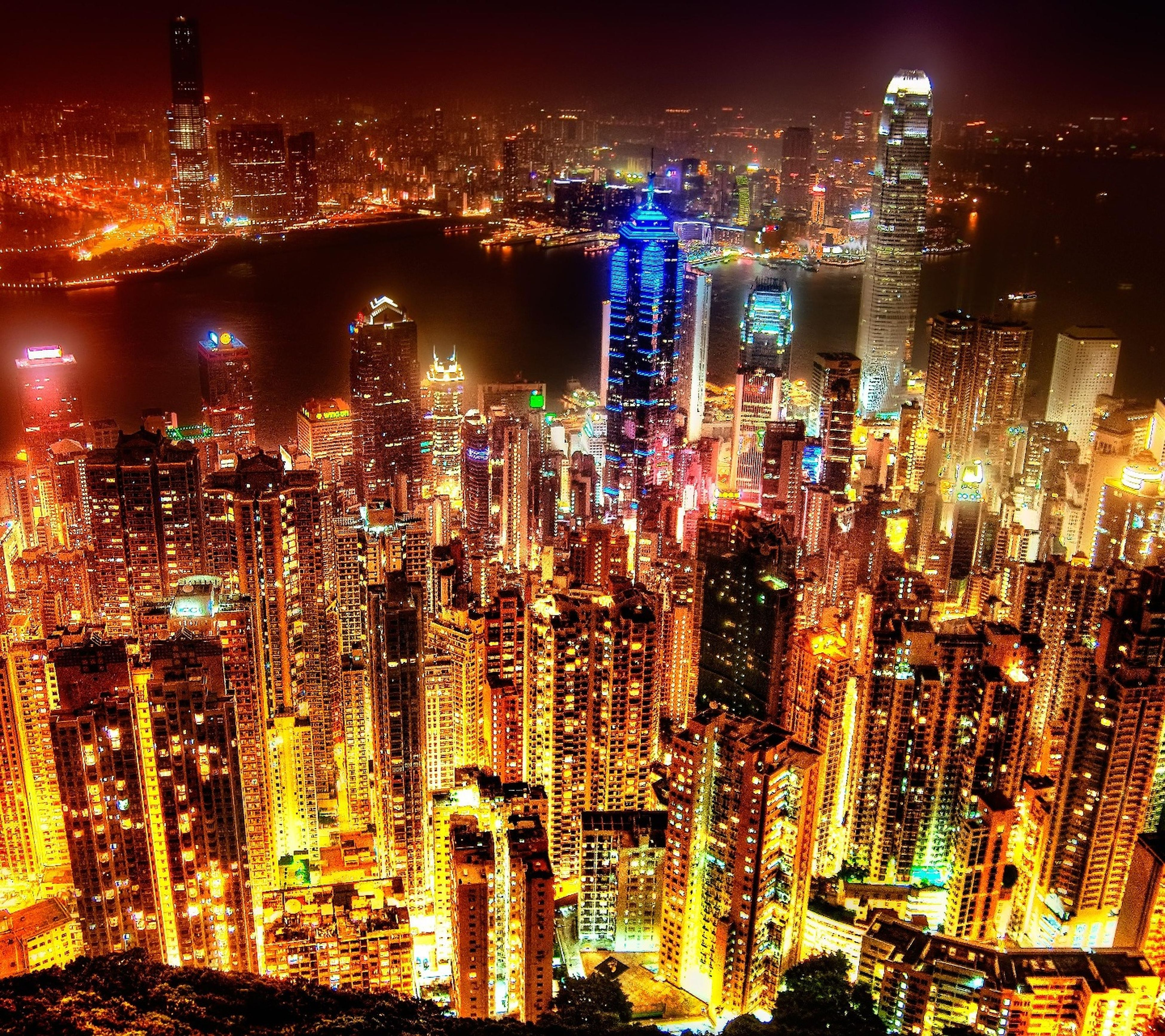 cityscape, night, illuminated, urban skyline, city, sky, building exterior, skyscraper, business finance and industry, architecture, no people, outdoors