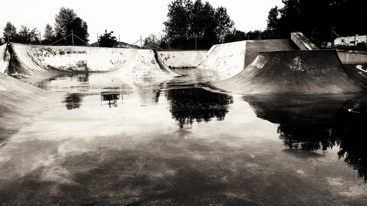 Skateboard Park 1/3 Reflection Water Rainy Day Blackandwhite Bnw Shadow And Light Bnw_life Bnw_society Bnw_planet Bnw_magazine Bnw_zone Foto_blackwhite Amateurs_bnw Fineart_photobw Fine Art Photography Artphoto_bw Sequim, WA